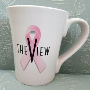 The-VIEW-TV-Show-Large-Ceramic-Coffee-Cup-Mug-Ford-Motor-Co-Warriors-in-Pink