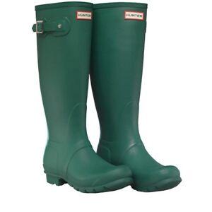 Hunter menta Verde Stripe 3 Stivali Original scuro Wellington Womens Bnib Misura nF0xFwgIq