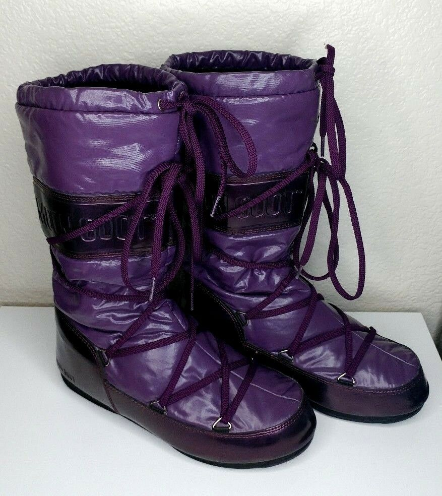 Tecnica Moon Boot Women's Size 6.5 Winter Boots Snow Rain Cold Weather Purple