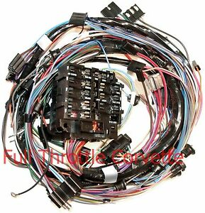 1969 corvette dash wiring harness for cars without air conditioning