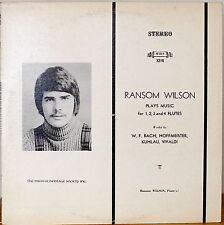 RANSOM WILSON PLAYS MUSIC FOR 1, 2,3 AND 4 FLUTES-M1975LP KUHLAU/HOFFMEISTER++