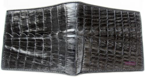 GENUINE CROCODILE ALLIGATOR TAIL BLACK SKIN LEATHER MEN/'S CLASSIC WALLET