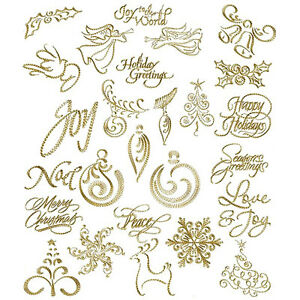 image is loading abc designs christmas gold 26 machine embroidery designs