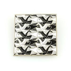 "Vintage M.C. Escher Licensed ""34"" Brooch by ACME Studio NEW"