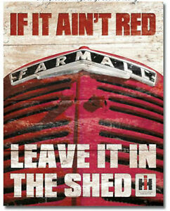 Farmall-Tractor-If-Aint-Red-Metal-Tin-Ad-Sign-Farm-Equipment-Picture-Decor-Gift