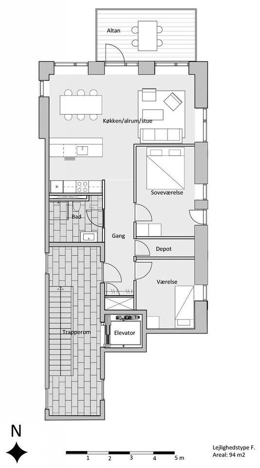 9000 3 lejlighed, 94, Kildevældet