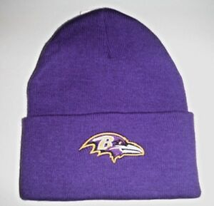 Image is loading Baltimore-Ravens-Authentic-New-Beanie-Toque-Knit-Hat- 269f753c0