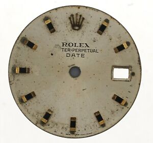 ROLEX-OYSTER-PERPETUAL-DATE-LADIES-WRISTWATCH-DIAL-FOR-RESTORATION-W160