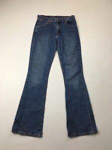 Damen-Levi-525-034-Bootcut-034-Jeans-W30-L34-Navy-Wash-super-Zustand