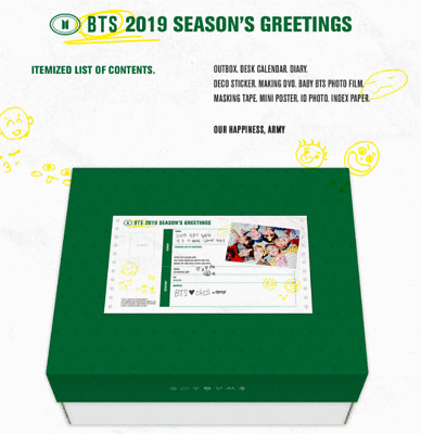 Bts Summer Package 2020.Bangtan Boys 2019 Bts Season S Greeting Just Opened Package With Free Gift Ebay