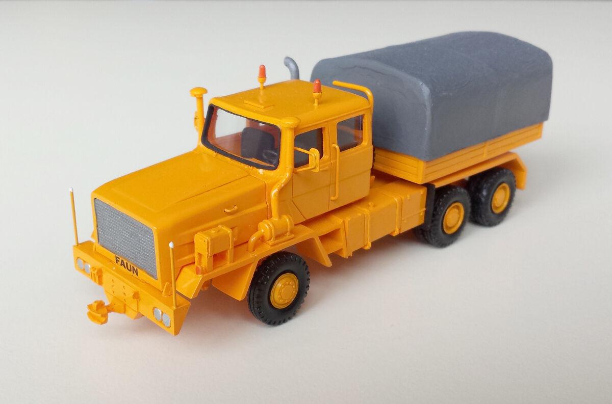 HO 1 87 FAUN Hz 40.45 45W 6x6 CSSR 1979 - 1980-prêts Résine Modèle