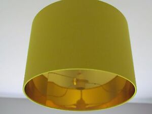 Image Is Loading New Handmade Metallic Mirror Gold Lined Bright Yellow