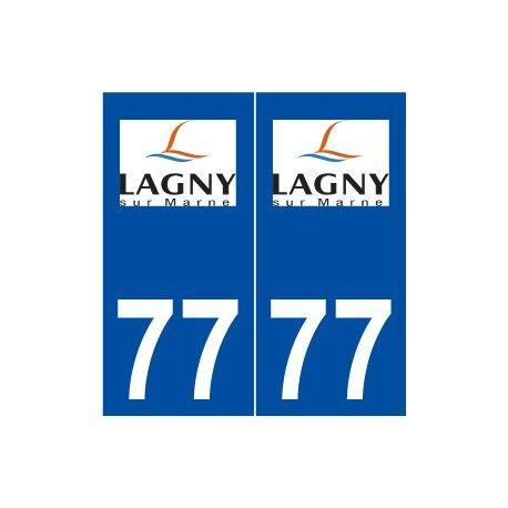 77 Lagny-sur-Marne logo autocollant plaque stickers ville