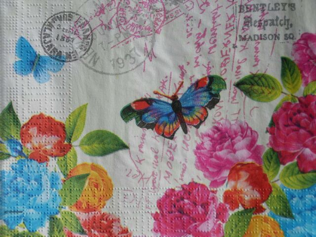20 x Table Paper Napkin//Decoupage//Dining//Craft//Vintage//Quality//Blossom Rose