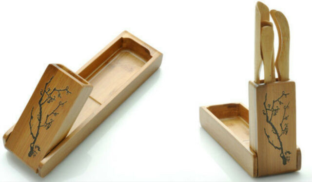 Bamboo Kungfu Teaware Tea Needle Tea Spoon Tea Scoop Tea Clip Folding Tool Box Set