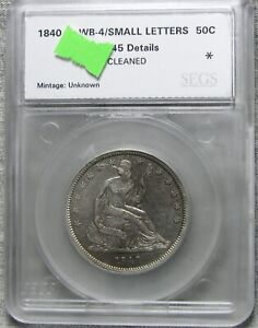 1840 Seated Liberty Half Dollar Silver Nice Details L@@K #883
