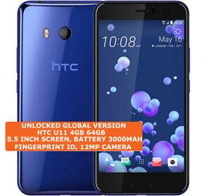 HTC-U11-4gb-64gb-Octa-Core-12mp-Digitales-Id-5-5-034-Android-9-0-LTE-Smartphone