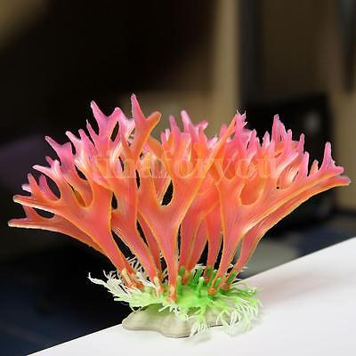 Artificial Tropical Coral Grass Plant Water Weeds Aquarium Ornament Fish Tank