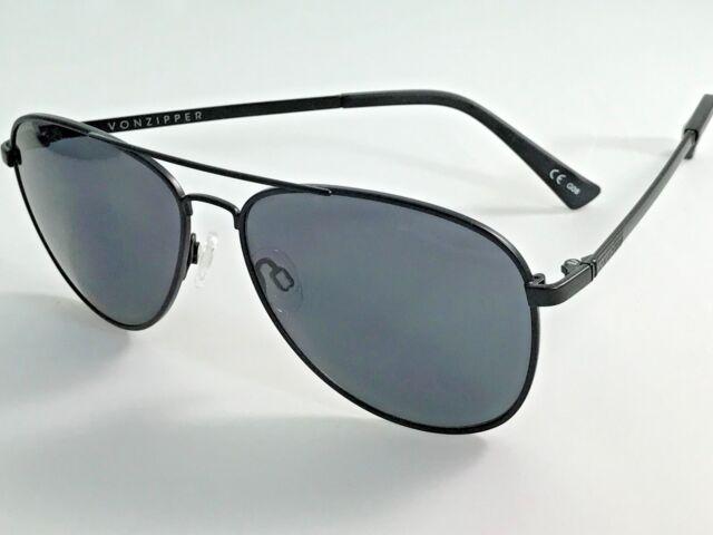 a0dfa802393bd Cyber BLOWOUT Von ZIPPER Plimpton Bks Black Satin Frame Men s Sunglasses