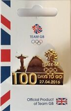 OFFICIAL TEAM GB 100 DAYS TO GO RIO OLYMPIC PIN - LIMITED EDITION