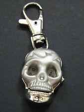 Pirates SKULL HEAD Watch 2nd Hand Spring Loaded & Key Chain Quartz & Battery NEW