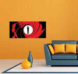James bond agent 007 room wall garage decor sticker decal for 007 room decor