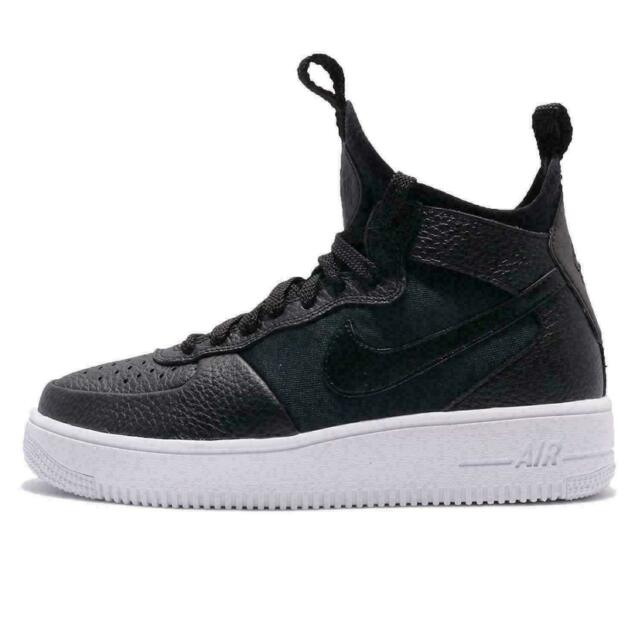 Nike Air Force 1 Ultraforce Mid Women Size 6 Black White Casual