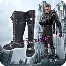 Final Fantasy XV Kingsglaive Nyx Ulric Cosplay Boots Black Shoes Custom Made