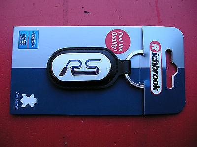 Richbrook Ford Colección New St Llavero De Cuero Negro 48mm Dia 5500-38