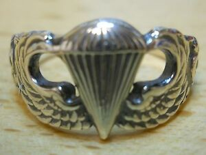 Womens-US-Army-Airborne-Basic-Parachutist-Jump-Wing-Ring-paratrooper