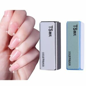 Image Is Loading 2pcs Blue Black Nail Polisher 4 Way Shiner