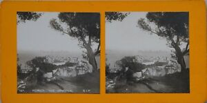 Monaco Vista Generale Del Rocher Foto Stereo PL47 Vintage Analogica c1900