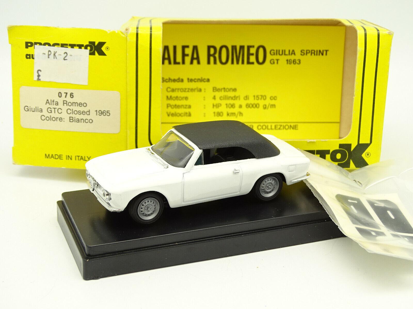 Progetto K 1 43 - Alfa Romeo Giulia GTC Closed White 1965
