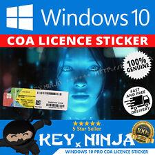 Windows 10 PRO Professional COA adesivo della Licenza (chiave Win10 32/64bit OS)