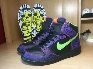 brand new 8da84 31045 Details about Nike Dunk High Day of the Dead Pack Quickstrike El Día de los  Muertos 2009