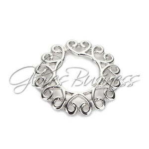 1 Pair Surgical Steel Heart Circle Nipple Shields Bar Navel Ring Body Piercing