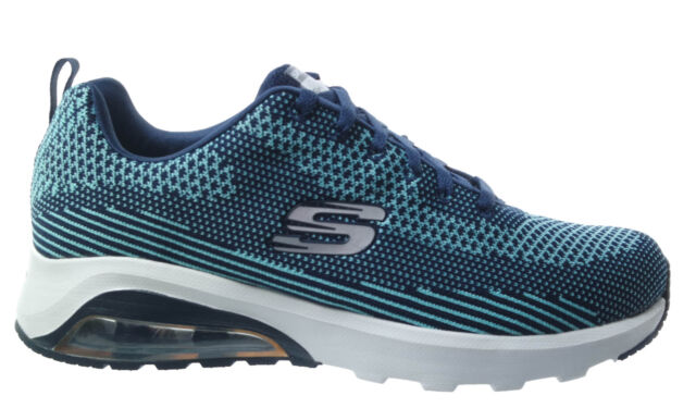 8493a3c217946d Men's Skechers Skech Air- Extreme Low Rise Trainers in Blue UK 10 ...