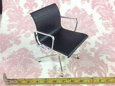 Dollhouse Miniature Furniture Office Home Modern Black Vinyl Task Chair 1:12