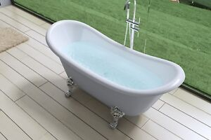 Victorian Fiberglass Acrylic Freestanding Bath Double Slipper Claw