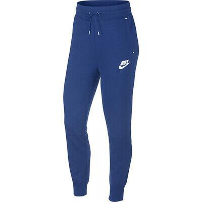 Women's Nike Tech Fleece Joggers Pants Blue White Sweatpants ...