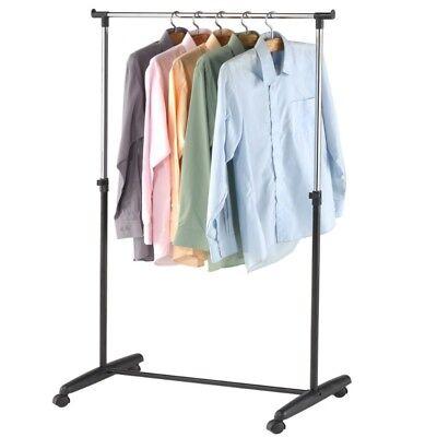 Fahrbarer Kleiderständer Jackenständer Mobile Garderobenstange Kleiderstange NEU