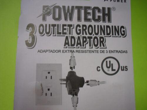 2PK 1 Converts to 3 OUTLET TRIPLE WAY Tap ADAPTER SPLITTER HEAVY DUTY Vinyl UL