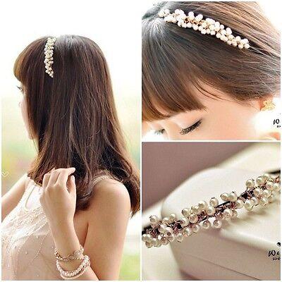 New Fashion Women's Pearl Head Chain Jewelry Headband Head Piece Hair Band