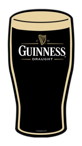 "18"" X 9"" TIN SIGN DIECUT GUINNESS DRAUGHT METAL SIGN NEW"