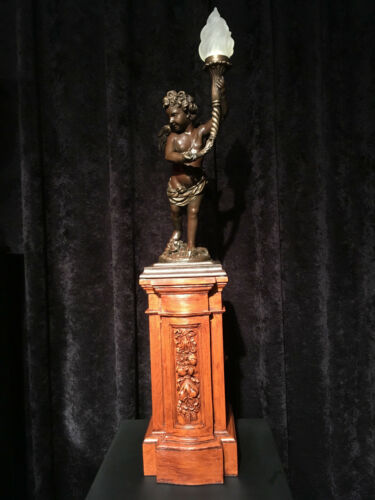 Details about  /RMS Titanic Cherub PEDESTAL replica for your bronze or resin statue