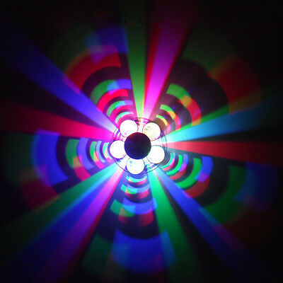 3W LED RGB Color Changing Wall Sconces Lamp Ceiling Light Fixture Pub Shop Disco