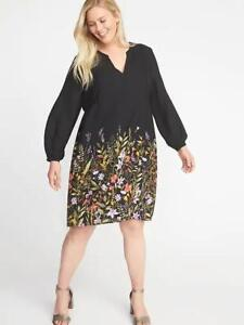 d9578070bfd Image is loading Old-Navy-Georgette-Plus-Size-Swing-Dress-Size-