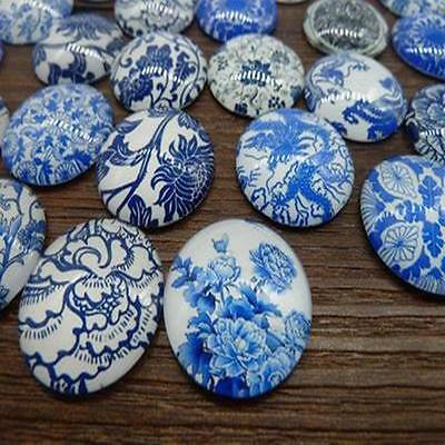25mm Round Mixed Handmade Photo Glass Dome Cabochon Cameo Cabs New 20pcs