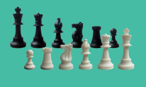 König 97mm Schachfiguren Silikon schwarz//weiß SchachQueen