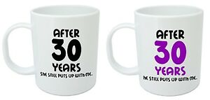 Image is loading After-30-Years-Him-amp-Her-Mugs-30th-